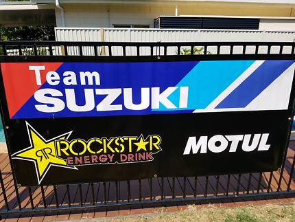 Factory Team Suzuki Rockstar Motul banner