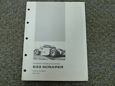 Caterpillar Cat 633 Scraper Hydraulic Sys Op Test Adjust Assembly Service Manual