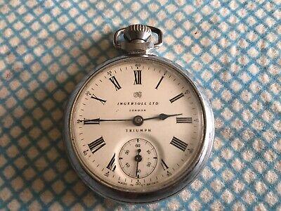 Vintage Ingersoll Triumph Pocket Watch £55 Working Order