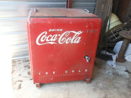 Antique Vintage Coca Cola Cooler Large Ice Model Embossed Chest Coke