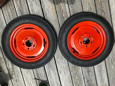 New Allis Chalmer B Front Rims And 4.00 X 15 Otani Tires