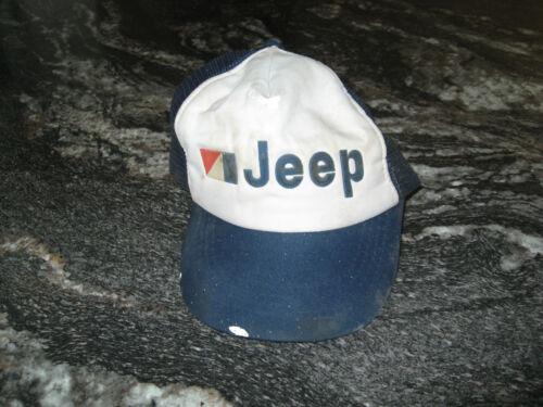 Vintage JEEP Mesh Snapback Hat Distressed!!  Taiwan R.O.C.~ Very Broke In!