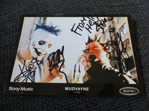 MUDVAYNE signed Autogramm auf 13x18 cm Foto InPerson RAR