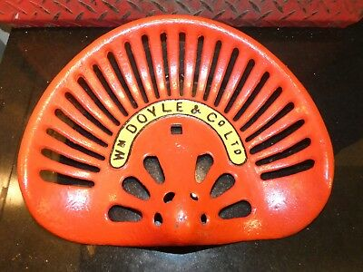 W Doyle  Vintage Cast Iron Tractor Implement Seat Farm Collectables