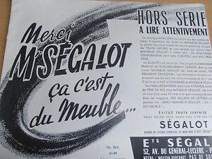catalogue de meuble SEGALOT année 50