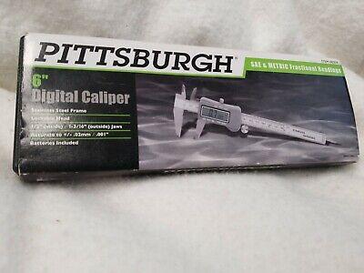Pittsburgh 6 Digital Caliper With Metric Sae Digital Display Wbatteries