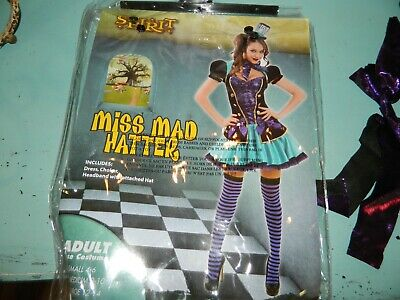 Miss Mad Hatter Halloween Costume by Spirit Size Large 12-14 Womens - Womens Mad Hatter Costumes