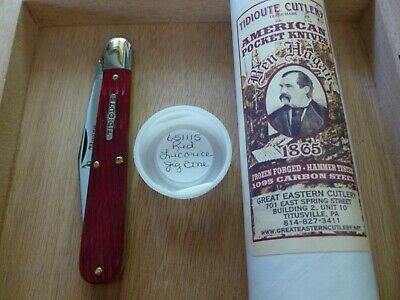 GEC Tidioute #65 Great Eastern Cutlery Red Licorice Jig Ben Hogan Knife NIT