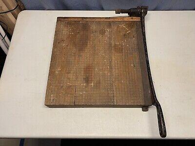 Vintage 18 Wooden Paper Cutter