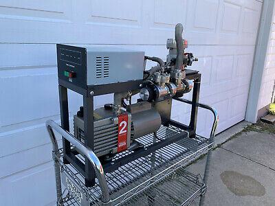 Edwards Vacuum System: E2M2 Roughing Pump- ETC 4/80 Turbo Pump ETC-80 Controller