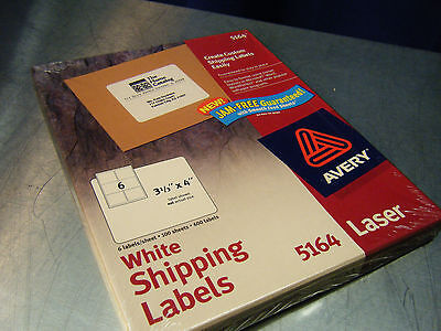 Avery Mailing Shipping Labels Model 5164