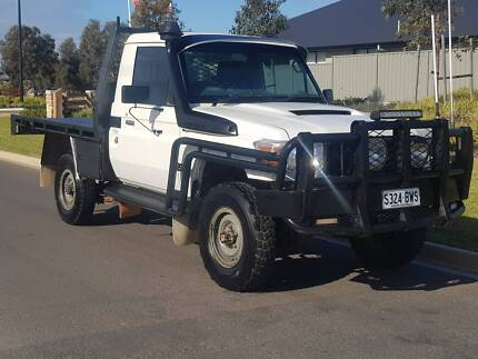 2013 TOYOTA LANDCRUISER WORKMATE VDJ79R MY13 WHITE CAB CHASSIS Adelaide CBD Adelaide City Preview