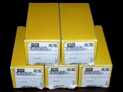 (NEW) LOT OF 5 HUBBELL HBL7582 10A 250V 15A 125V TWIST LOCK RECEPTACLE