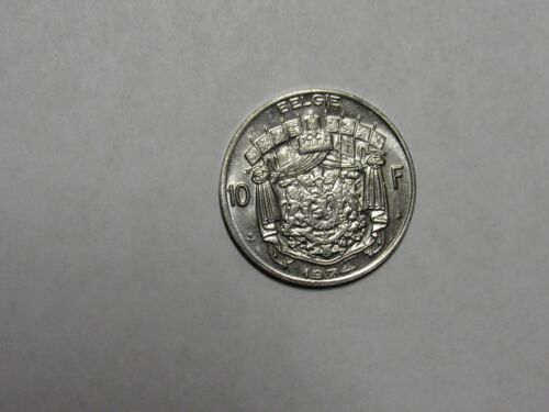 Old Belgium Coin - 1974 Dutch 10 Francs - Circulated