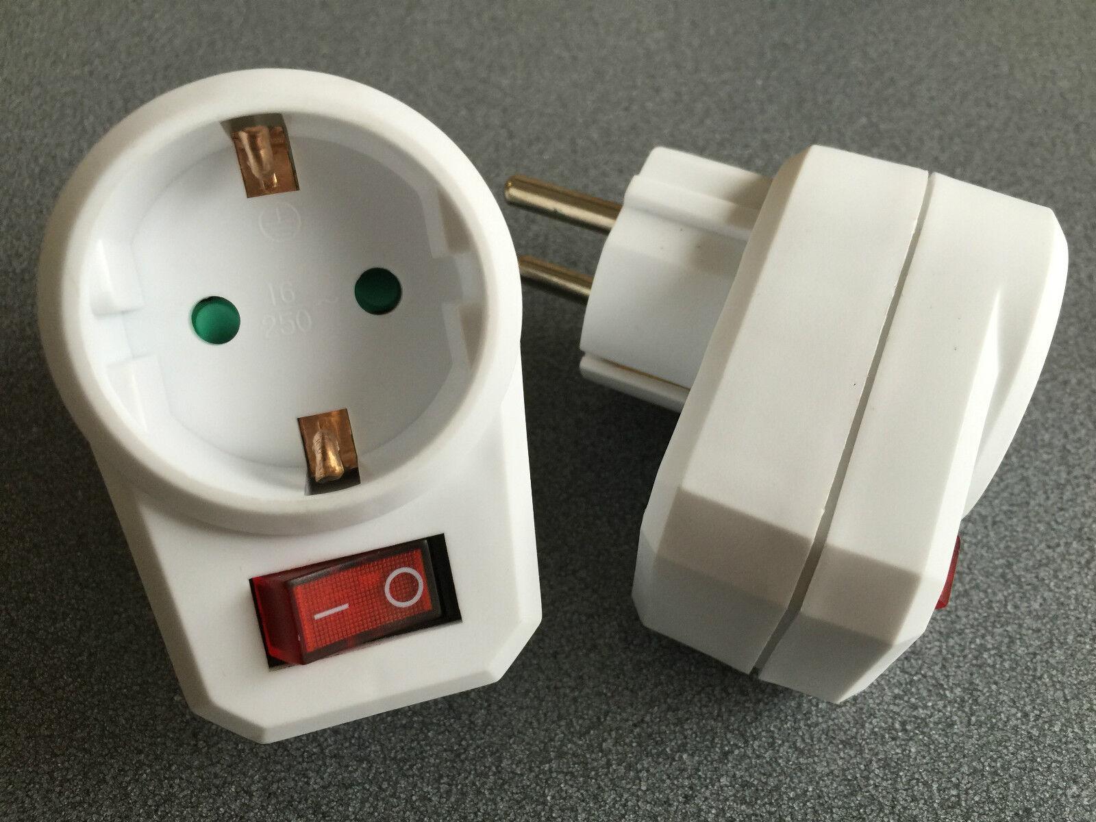 1 schaltbare Steckdose mit Schalter Steckdosenschalter Stecker Schuko Adapter2