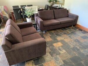 2 seater & 2 .5 seater Chocolate Brown Lounge