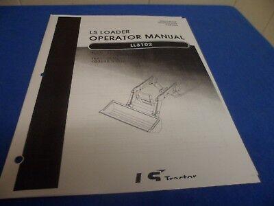 Ls Tractor Operators Manual Loader Lb3102 G3030 G3040 Tractors Non Self Leveling