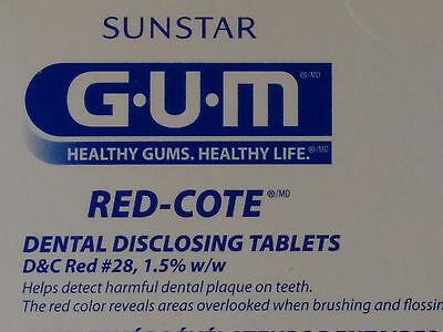 (Sunstar Butler GUM #800 Red Cote Disclosing Tablets 248 tablets per box)