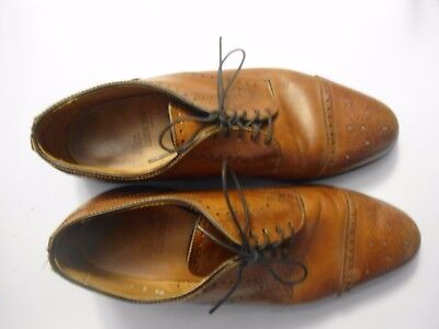 Allen Edmunds Mens Size 8 1 2  Shoes Brown Leather Wing Tip Oxfords