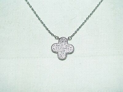 Très beau collier argent 925/1000 et zircons