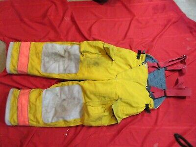 Globe Gx-7 38 X 30 Firefighter Turnout Bunker Pants Gear Suspenders
