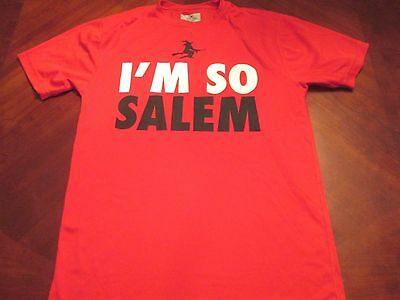 NEW I'M SO SALEM RED TECH FIT T-SHIRT SIZE M MA. HALLOWEEN WITCH CITY