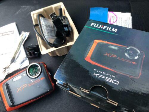 FUJIFILM FinePix XP90 16.4MP 1080P WiFi Waterproof Digital Camera Bundle