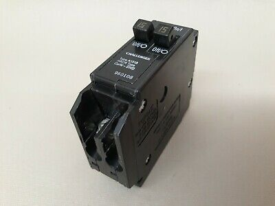Challenger 15 Amp Single Pole A1515 Twin Tandem Circuit Breaker