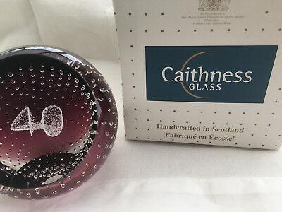 Caithness Paperweight, 'Celebration 40'