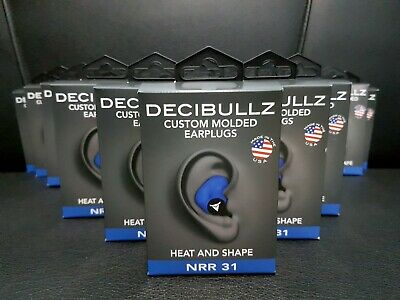 Decibullz Custom Molded Earplugs - Blue