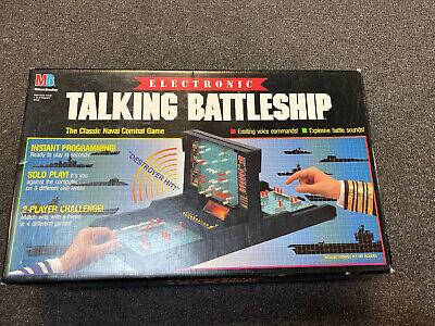 Vintage ELECTRONIC TALKING BATTLESHIP Milton Bradley 1989 Navy Game Ships