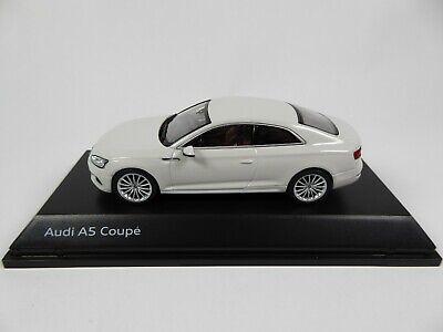 Audi A5 Coupe Glacier White 1:43 Spark - Dealer Pack Model Car Diecast 5431