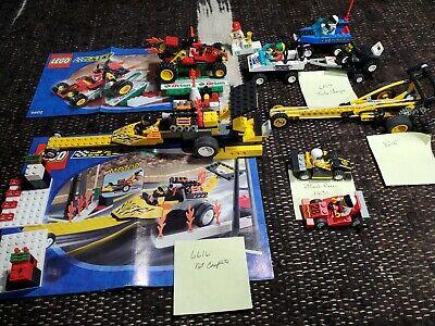 Vintage Lego racers, Rocket Dragster 6616, Turbo Champs, Scorpion Buggy,Bunge Bl