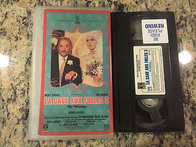 LA CAGE AUX FOLLES 3: THE WEDDING RARE VHS! NOT DVD 1986 DRAG QUEEN GAY (La Cage Aux Folles 3 The Wedding)