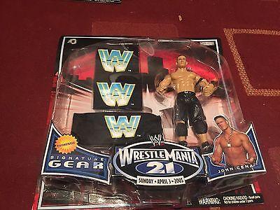 WWE Wrestlemania 21 Signature Gear John Cena MOSC Jakks