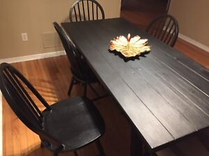 Dining Table with 6 Chairs IKEA