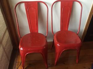 Red Tolix Dining Chairs x4 Paddington Eastern Suburbs Preview