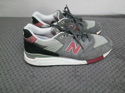 NEW BALANCE M998GR Grey Suede Trainers / Sneakers UK9