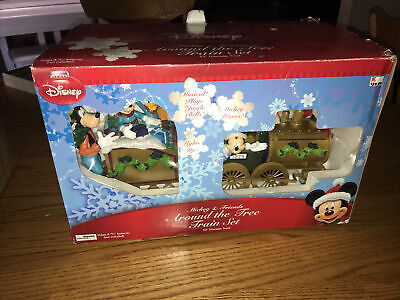 Disney Christmas Mickey And Friends Around The Tree Train Set Holiday TESTED