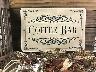 Coffee Bar Sign- Wedding Decor - Party Decor Sign - 12x8 Sign - Coffee Sign (Wedding Bar Signs)