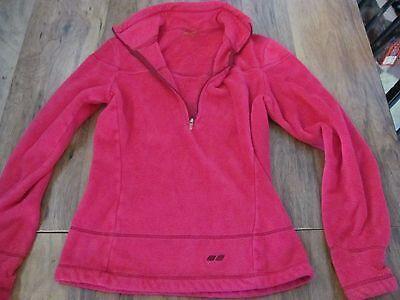 Women&39s XS Bright Pink Koppen Pullover Fuzzy Soft Fleece Jacket 1