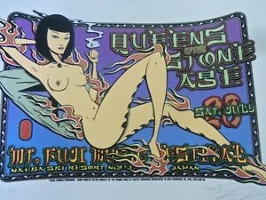 Queens of the Stone Age Concert Poster Rare Signed AP Edition Alan Forbes QOTSA