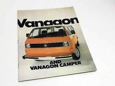 1982 Volkswagen Vanagon Camper Brochure for sale  North York