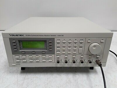 Wavetek 100 Megahertz Synthesized Arbitrary Waveform Generator Model 395