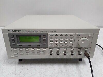Wavetek 100 Megahertz Synthesized Arbitrary Waveform Generator Model 395