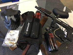 Paintball gun w' accessories and paintballs
