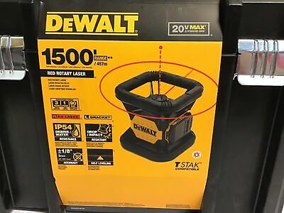 For Parts Not Working Dewalt 20v Max Laser Level Rotary Red 150ft Range Dw074lr