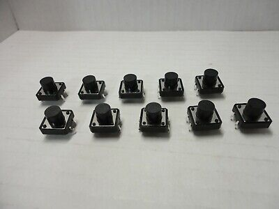 10x Pack Lot 12x12x9 Mm Push Touch Tactile Momentary Micro Button Switch Dip Pcb