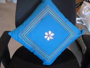 Brand New blue cushion with beading and insert Kingsley Joondalup Area Preview