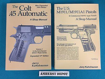 .45 Colt 1911/1911A1 Pistols Shop Manuals  Vol 1 and 2, Kuhnhausen NEW